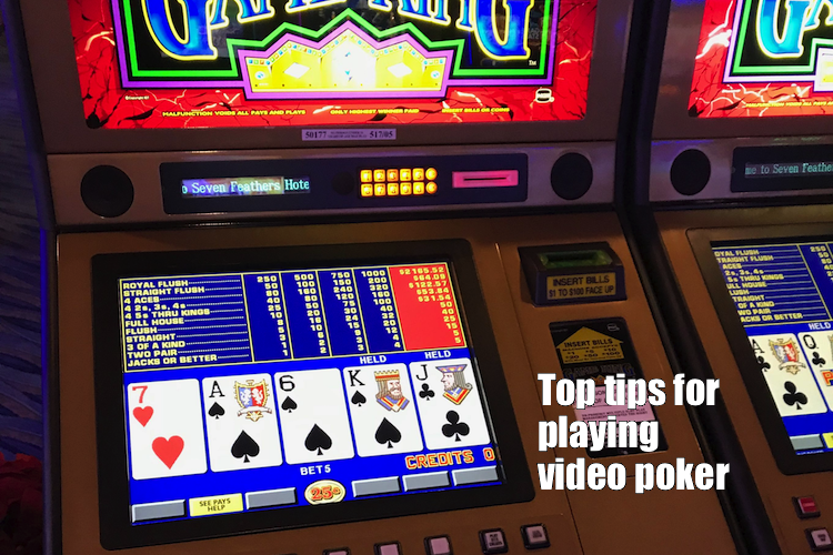 QUICK TIPS on video poker